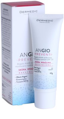 Dermedic Angio Preventi інтенсивний  крем для шкіри з матуючим ефектом для чутливої шкіри та шкіри схильної до почервонінь 1