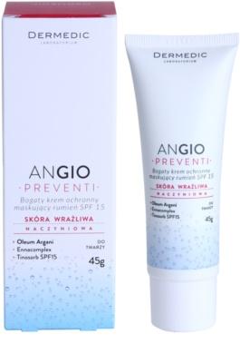Dermedic Angio Preventi інтенсивний  крем для шкіри з матуючим ефектом для чутливої шкіри та шкіри схильної до почервонінь 2