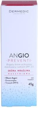 Dermedic Angio Preventi інтенсивний  крем для шкіри з матуючим ефектом для чутливої шкіри та шкіри схильної до почервонінь 3