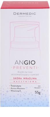 Dermedic Angio Preventi crema faciala de noapte impotriva rosetii pentru piele sensibila si inrosita 3