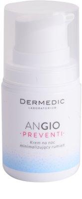 Dermedic Angio Preventi crema facial de noche reductora de rojeces para pieles sensibles y con rojeces