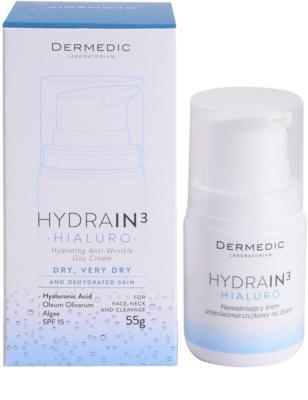 Dermedic Hydrain3 Hialuro hydratisierende Tagescreme gegen Falten 3
