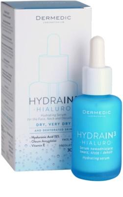 Dermedic Hydrain3 Hialuro feuchtigkeitsspendendes Hautserum für trockene bis sehr trockene Haut 1