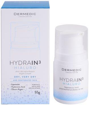 Dermedic Hydrain3 Hialuro hidratáló éjszakai krém a ráncok ellen 3