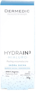 Dermedic Hydrain3 Hialuro exfoliante enzimático para pieles deshidratadas y secas 2