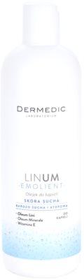 Dermedic Linum Emolient aceite de baño para pieles secas y atópicas