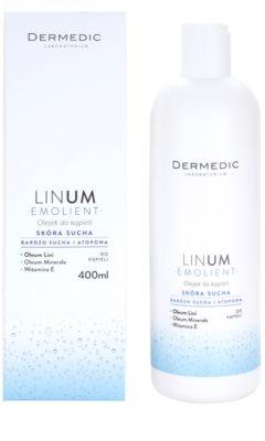 Dermedic Linum Emolient aceite de baño para pieles secas y atópicas 1