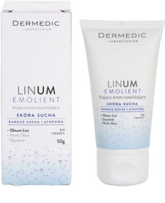 Dermedic Linum Emolient zklidňující a hydratační krém pro suchou až atopickou pleť 2