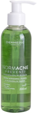 Dermedic Normacne Preventi antibakterielles Reinigungsgel für fettige und Mischhaut