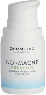 Dermedic Normacne Preventi crema facial de noche reguladora y limpiadora 1