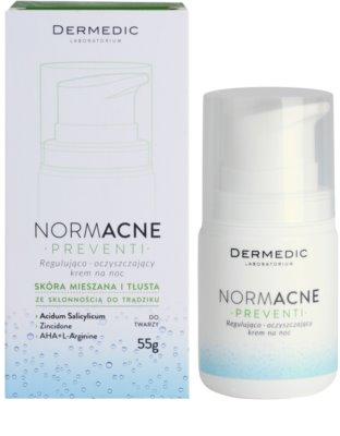 Dermedic Normacne Preventi crema facial de noche reguladora y limpiadora 3