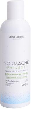 Dermedic Normacne Preventi tónico antibacteriano para uso regular para pele mista e oleosa