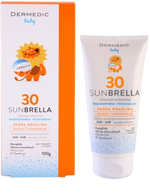 Dermedic Sunbrella Baby ásványi védő emulzió SPF 30 1