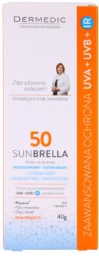 Dermedic Sunbrella crema protectora mineral para pieles sensibles  SPF 50 3