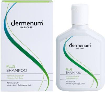 Dermenum Hair Care Plus stärkendes Shampoo gegen Schuppen und Haarausfall 1