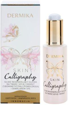 Dermika Skin Calligraphy Ulei de regenerare cu efect intens pentru fata, gat si piept 1
