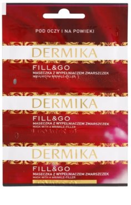 Dermika Fill & Go mascarilla regeneradora antiarrugas  para contorno de ojos