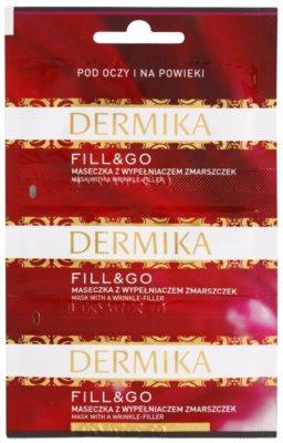 Dermika Fill & Go відновлююча маска проти зморшок для шкріри навколо очей