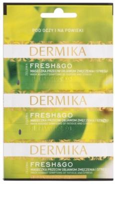 Dermika Fresh & Go mascarilla para aliviar los síntomas de cansancio y estrés para contorno de ojos
