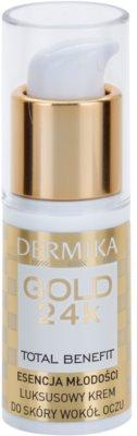 Dermika Gold 24k Total Benefit luksusowy krem odmładzający do okolic oczu