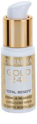 Dermika Gold 24k Total Benefit luxuriöse verjüngende Creme für die Augenpartien 1