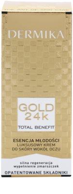 Dermika Gold 24k Total Benefit luxuriöse verjüngende Creme für die Augenpartien 3