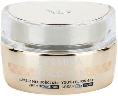 Dermika Gold 24k Total Benefit luxuoso creme rejuvenescedor 45+