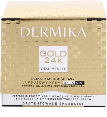 Dermika Gold 24k Total Benefit luxuriöse verjüngende Creme 45+ 3