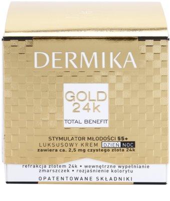 Dermika Gold 24k Total Benefit crema de lujo rejuvenecedora 55+ 3
