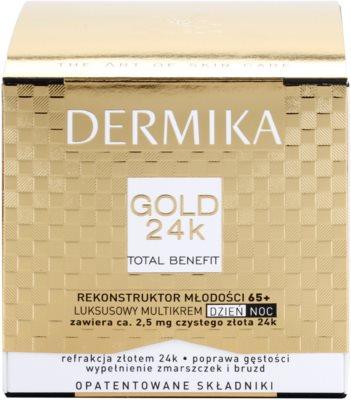 Dermika Gold 24k Total Benefit luxuriöse verjüngende Creme 65+ 3