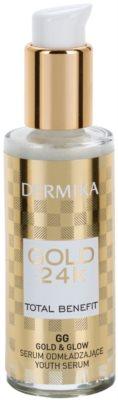 Dermika Gold 24k Total Benefit sérum rejuvenecedor para iluminar y alisar la piel