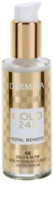 Dermika Gold 24k Total Benefit подмладяващ серум за освежаване и изглаждане на кожата