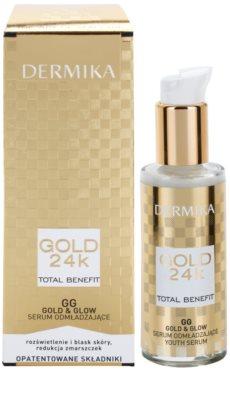 Dermika Gold 24k Total Benefit sérum rejuvenecedor para iluminar y alisar la piel 1