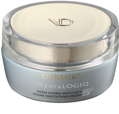 Dermika HydraLOGIQ mattierende Feuchtigkeitscreme für normale Haut und Mischhaut