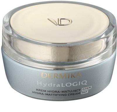 Dermika HydraLOGIQ зволожуючий матуючий крем для нормальної та змішаної шкіри