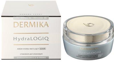 Dermika HydraLOGIQ mattierende Feuchtigkeitscreme für normale Haut und Mischhaut 1
