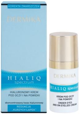 Dermika Hialiq Spectrum creme contorno de olhos antirrugas com ácido hialurônico com ácido hialurónico 2