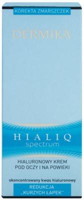 Dermika Hialiq Spectrum creme contorno de olhos antirrugas com ácido hialurônico com ácido hialurónico 3