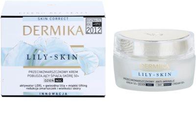 Dermika Lily Skin povzbudzujúci protivráskový krém pre unavenú pleť 2