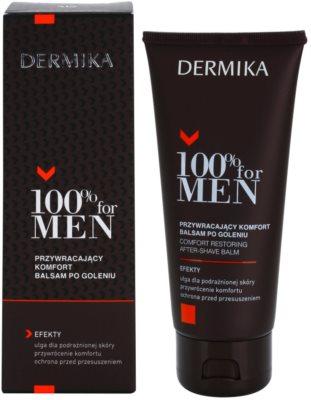 Dermika 100% for Men bálsamo calmante after shave 1