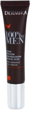 Dermika 100% for Men крем проти зморшок для шкіри навколо очей