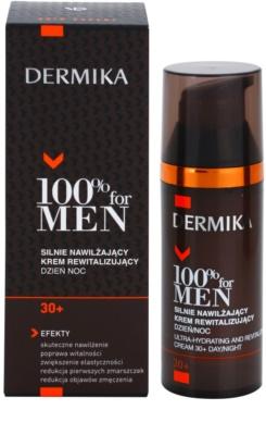 Dermika 100% for Men зволожуючий відновлюючий крем 30+ 2