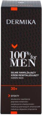 Dermika 100% for Men зволожуючий відновлюючий крем 30+ 3