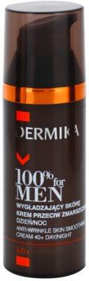 Dermika 100% for Men glättende Anti-Falten Creme 40+