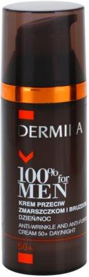 Dermika 100% for Men крем против дълбоки бръчки 50+