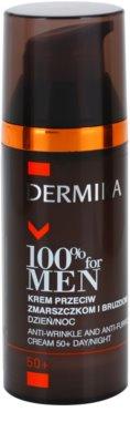 Dermika 100% for Men crema contra las arrugas profundas 50+