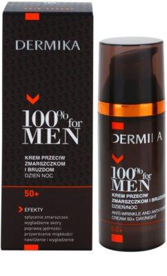 Dermika 100% for Men Creme gegen tiefe Falten 50+ 2