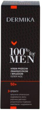 Dermika 100% for Men Creme gegen tiefe Falten 50+ 3