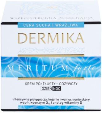 Dermika Meritum Forte nährende Creme für trockene bis empfindliche Haut 3