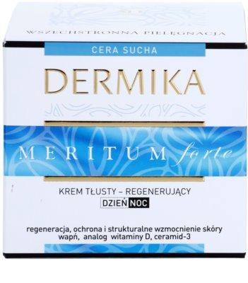 Dermika Meritum Forte crema regeneradora para pieles secas 3